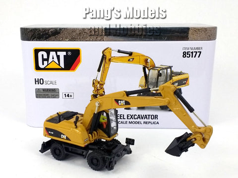 CAT M318D Wheel Excavator HO Scale (1/87) - Diecast Model - Diecast Masters