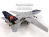"Grumman F-14 Tomcat VF-11 ""Red Rippers"" 1/72 Scale Plastic Model WITH METAL DISPLAY STAND"