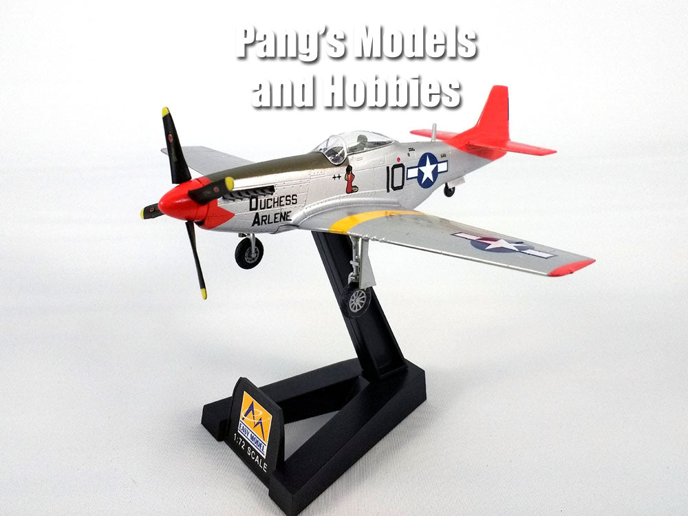 "P-51D (P-51) Mustang - Red Tails - Tuskegee Airmen ""Dutchess Arlene"" 1/72 Scale Assembled and Painted Model by Easy Model"