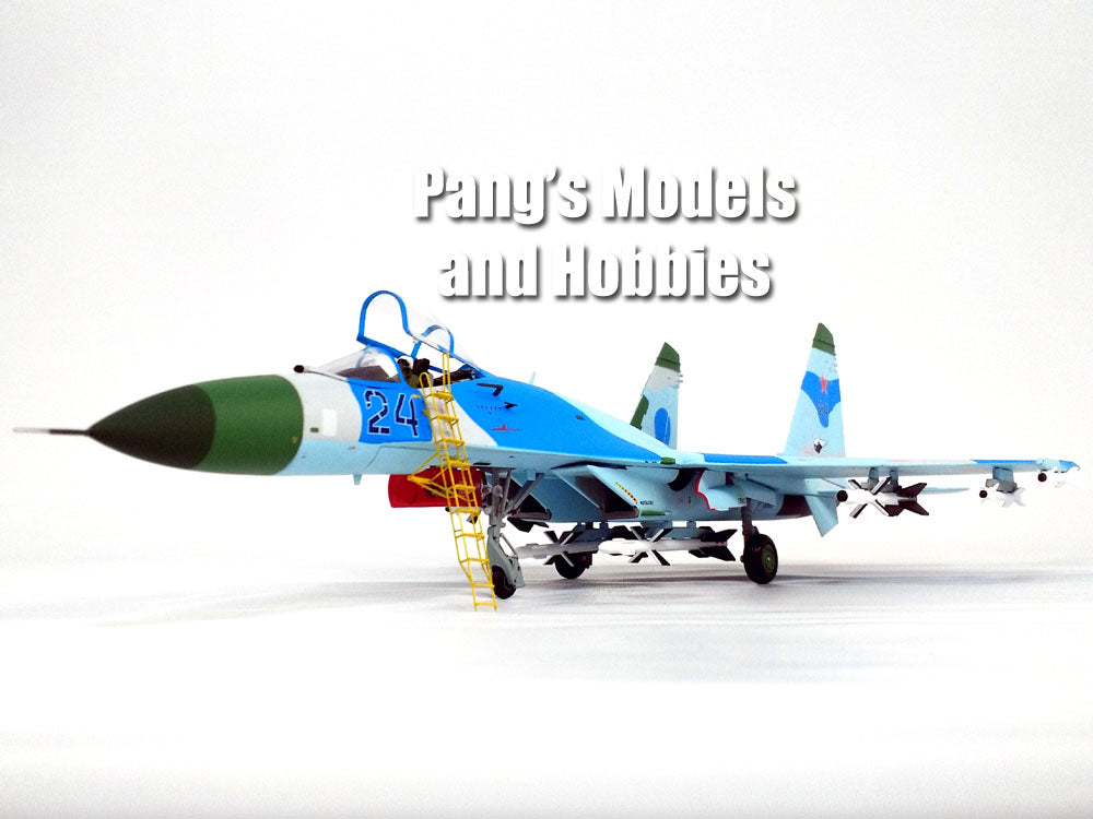 SU-27 Flanker - Russian Air Force Blue Camo 24 1/72 Diecast Metal Model by JC Wings