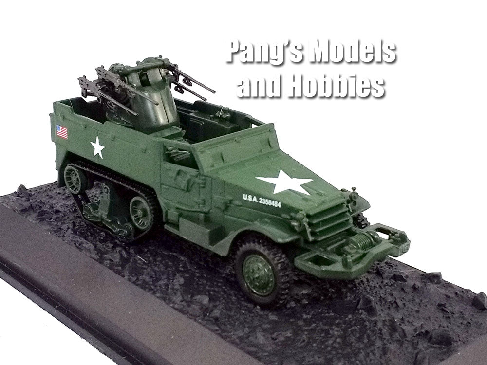 M16 Multiple Gun Motor Carriage - Half-track Truck  1/72 Scale Diecast Metal Model by Amercom