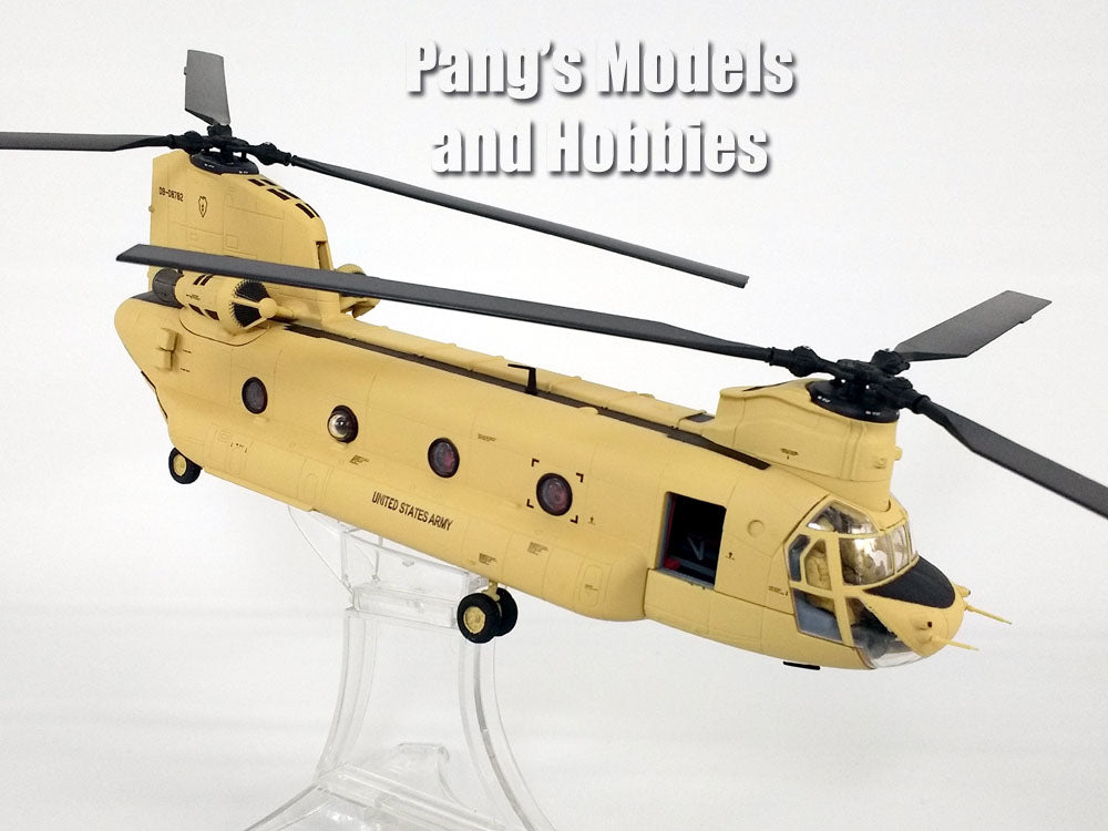Boeing CH-47 (CH-47F) Chinook - TAN - ARMY -  1/72 Scale Diecast Helicopter Model by Forces of Valor