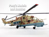 Mil Mi-24 Hind - Russia - 1/72 Scale Assembled and Painted Plastic Model by Easy Model