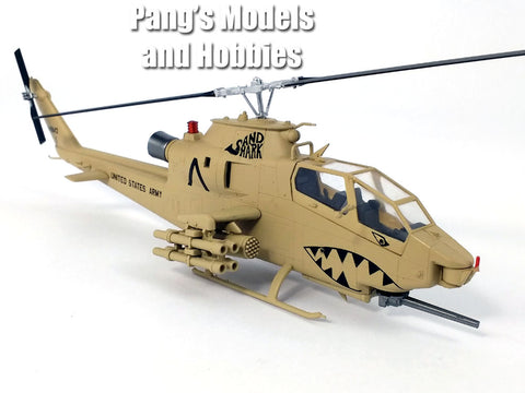 Bell AH-1 Cobra US ARMY - Sand Shark - 1/72 Scale Assembled and Painted Plastic Model by Easy Model