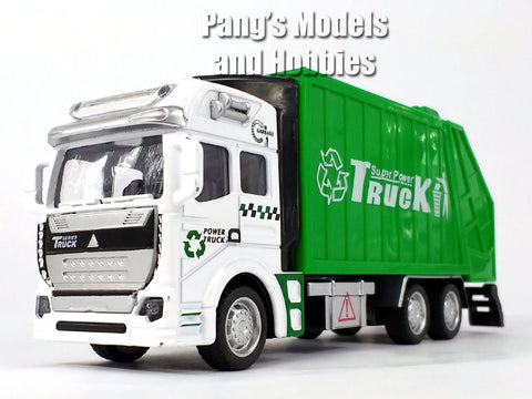 7.5 Inch Garbage and Recycling Truck Scale Diecast Metal Model