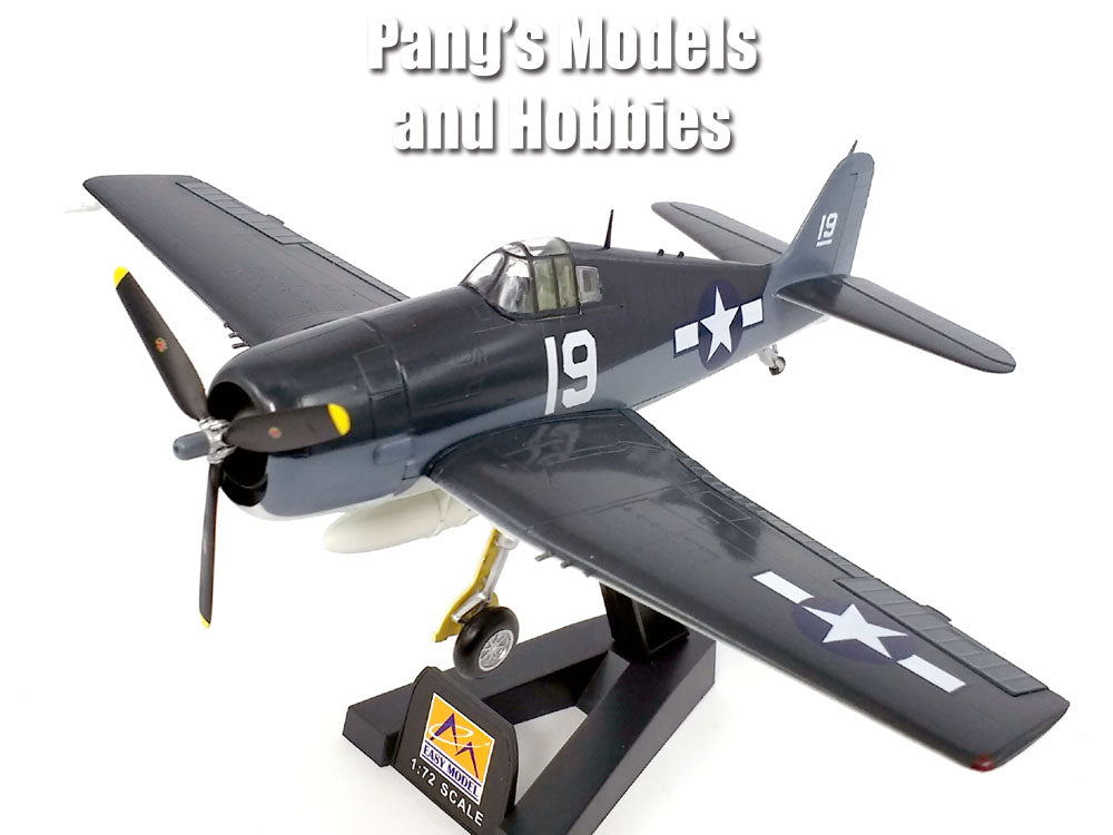 Grumman F6F Hellcat VF-6 USS Intrepid 1944 1/72 Scale Assembled and Painted Model by Easy Model