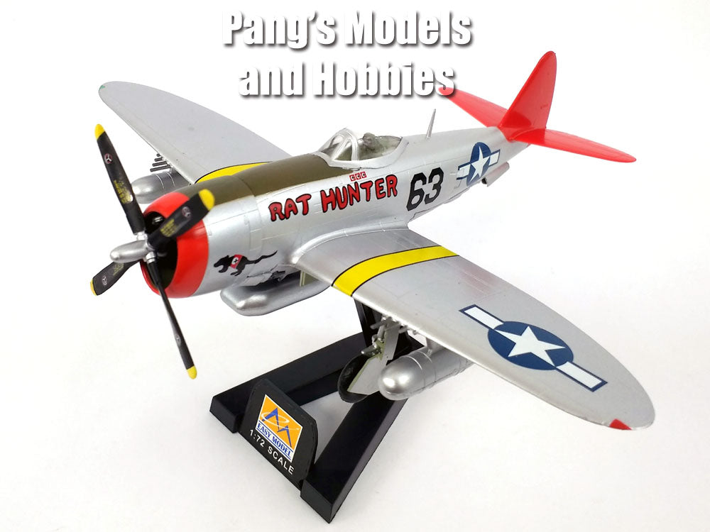 "P-47 Thunderbolt Red Tails ""Rat Hunter"" 1/72 Scale Assembled and Painted Model by Easy Model"