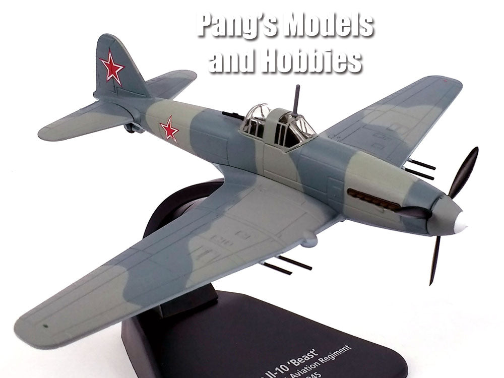 "Ilyushin Il-10 ""Beast"" Soviet Ground Attack Airplane 1/72 Scale Diecast Metal Model by Oxford"