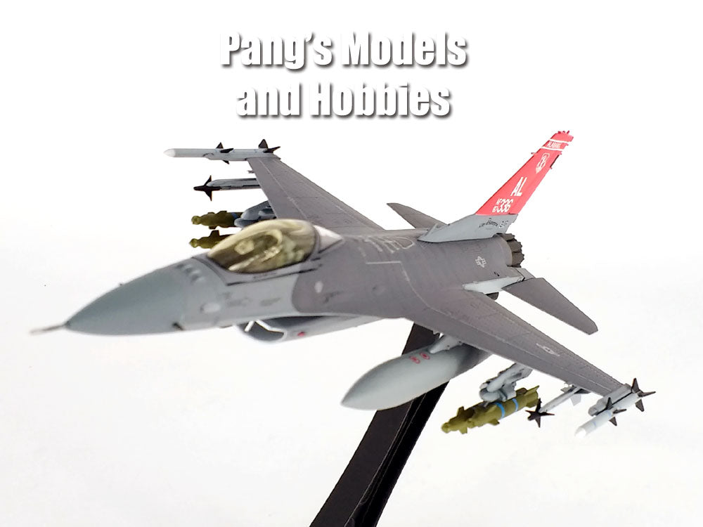 Lockheed Martin F-16 (F-16C) Falcon - 100th Fighter Squadron USAF ANG - 1/72 Scale diecast metal model by JC Wings