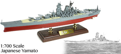 Battleship Yamato Imperial Japanese Navy 1/700 Scale Diecast & Plastic Model - Forces of Valor