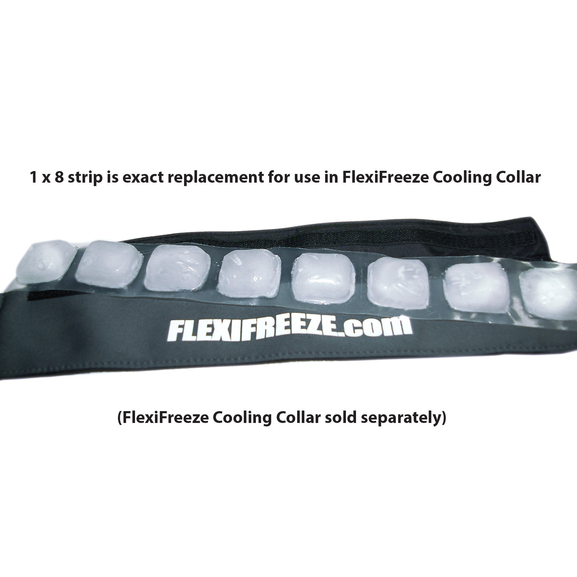 FlexiFreeze 8 cube ice strip, Bulk 100 count