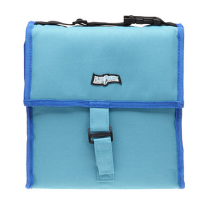 Large Tote Cooler, Teal/Blue