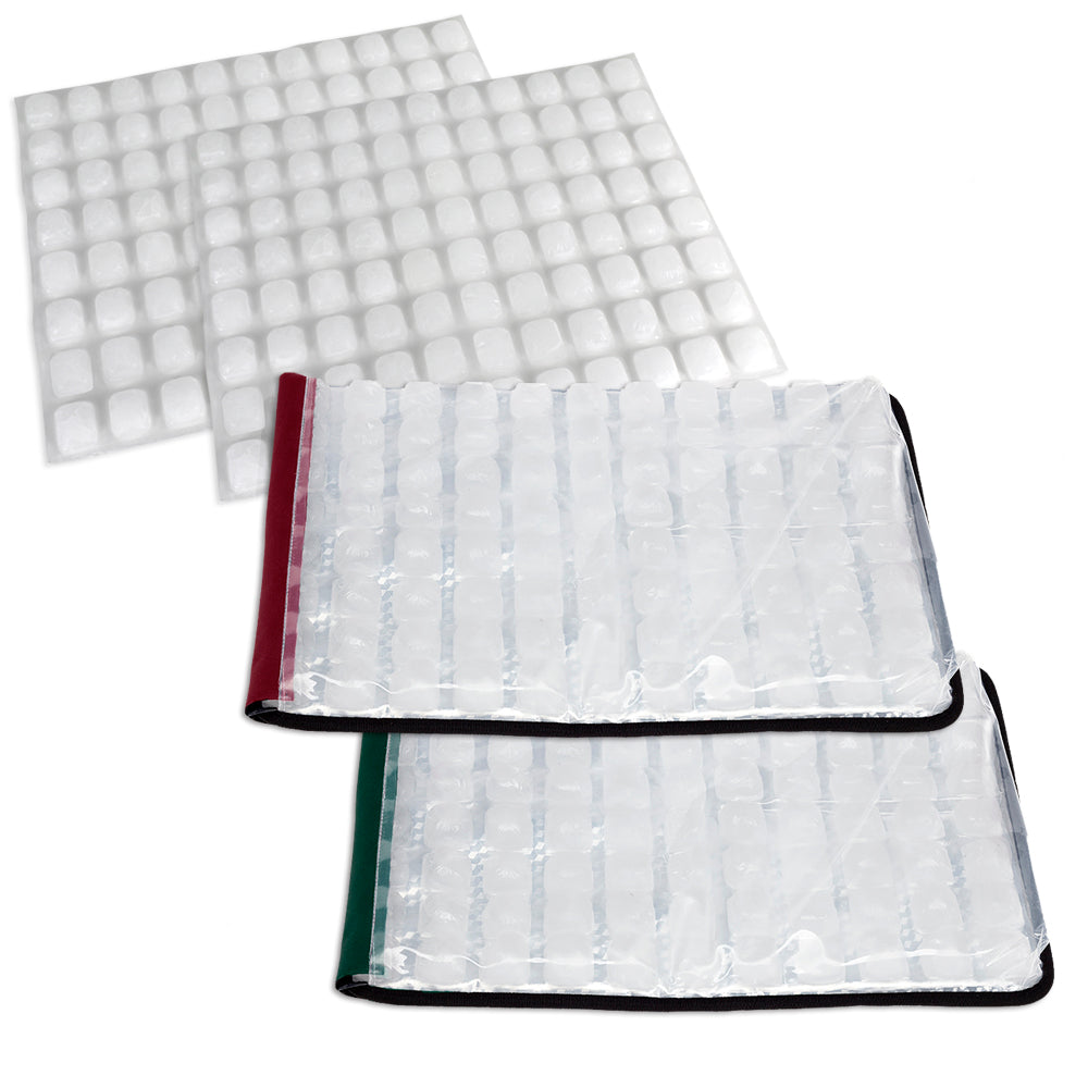 Party Mat Value Pack -  Red & Green with BONUS Refill Ice Sheets