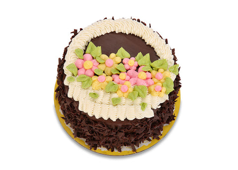 Old Fashioned Chocolate Cake - Easter Basket (5