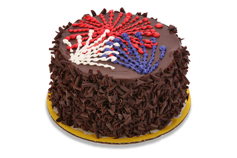 Old Fashioned Chocolate Cake - 4th of July