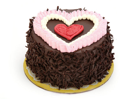 Old Fashioned Chocolate Cake - Ruffled Heart (5