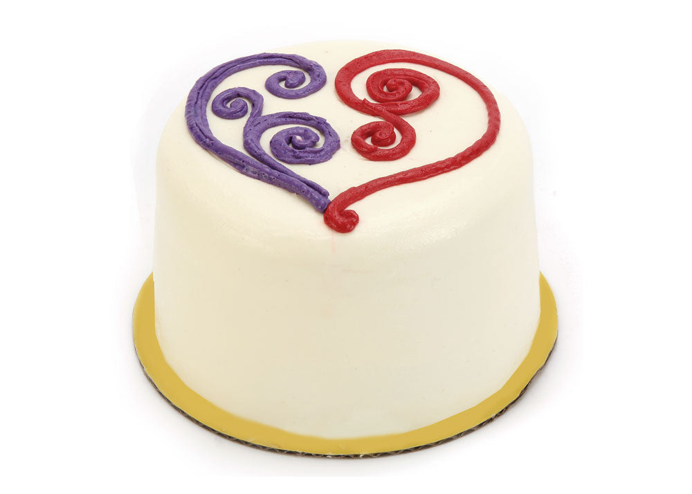 "Triple Berry Cake Swirly Heart (5"" Round)"