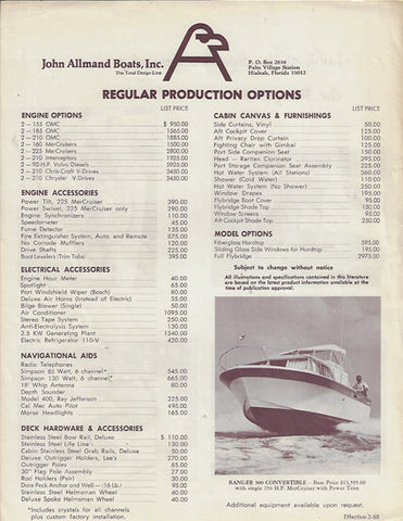 Allmand Ranger 300 Price List