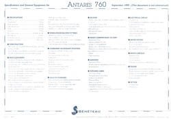 Beneteau Antares 760 Specification Brochure