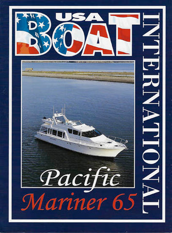 Pacific Mariner 65 Boat International Magazine Reprint Brochure