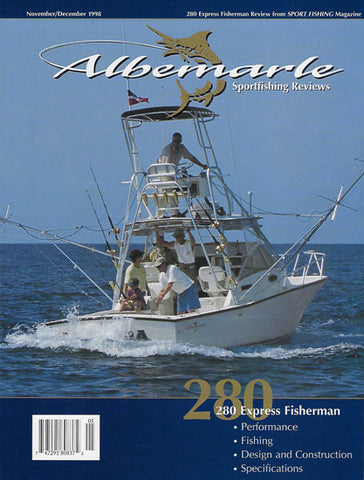 Albemarle 280 Express Fisherman Sport Fishing Magazine Reprint Brochure