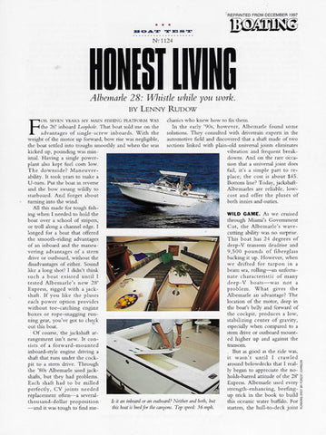 Albemarle 280 Express Fisherman Boating Magazine Reprint Brochure