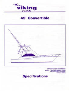 Viking 45 Convertible Specification Brochure