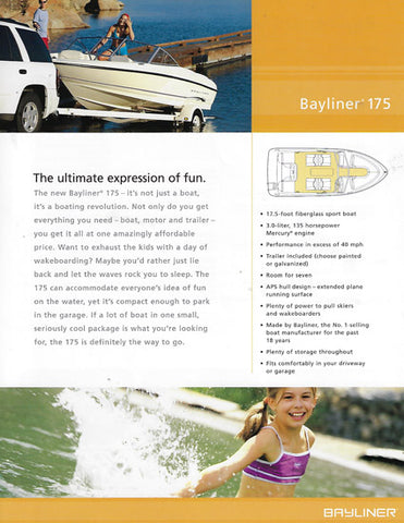 Bayliner 175 Brochure