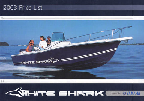 White Shark 2003 Price List Brochure