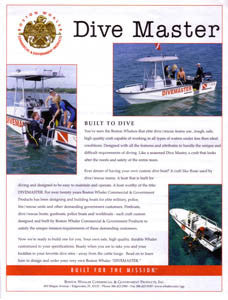 Boston Whaler Dive Master Brochure
