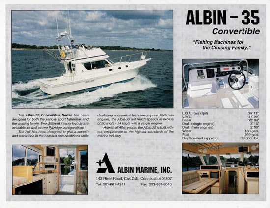 Albin 35 Convertible Brochure