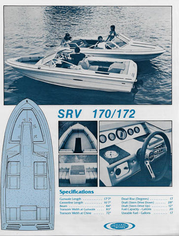 Sea Ray 170/172 Specification Brochure (1982)