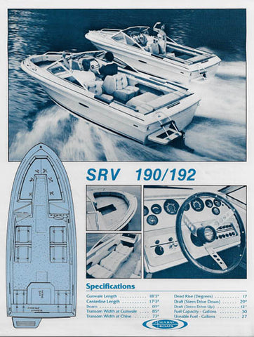 Sea Ray 190/192 Specification Brochure (1982)