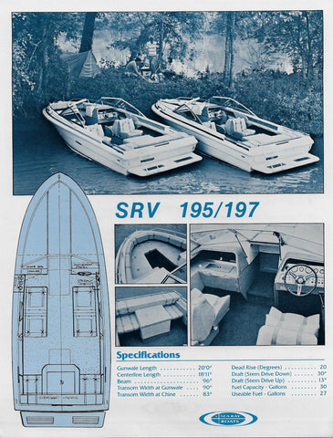 Sea Ray 195/197 Specification Brochure (1982)