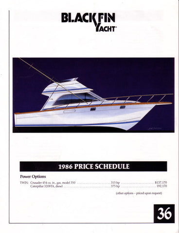Blackfin 36 Specification Brochure