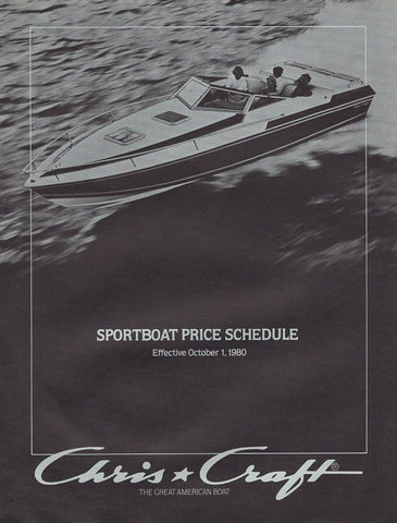 Chris Craft 1981 Sport Boat Price List