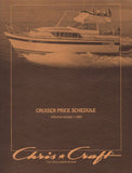 Chris Craft 1981 Cruisers Price List