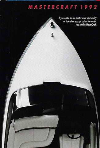Mastercraft 1992 Full Line Brochure