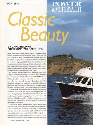 Pacific Seacraft 38T Trawler Power & Motoryacht Magazine Reprint Brochure
