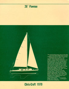 Chris Craft Pawnee 26 Specification Brochure