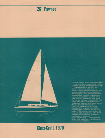 Chris-Craft Pawnee 26 Specification Brochure