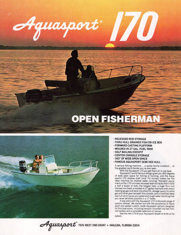 Aquasport 170 Open Fisherman Brochure