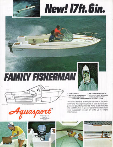 Aquasport 176 Family Fisherman Brochure