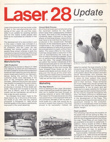Laser 28 Update Newsletter