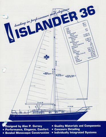 Islander 36 Specification Brochure