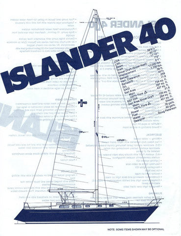 Islander 40 Specification Brochure & Blue Print Package