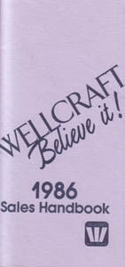 Wellcraft 1986 Fact Book Brochure