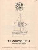 Island Packet 29 Specification Brochure