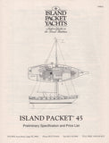 Island Packet 45 Specification Brochure
