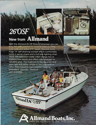 Allmand 26 Offshore Fisherman Brochure